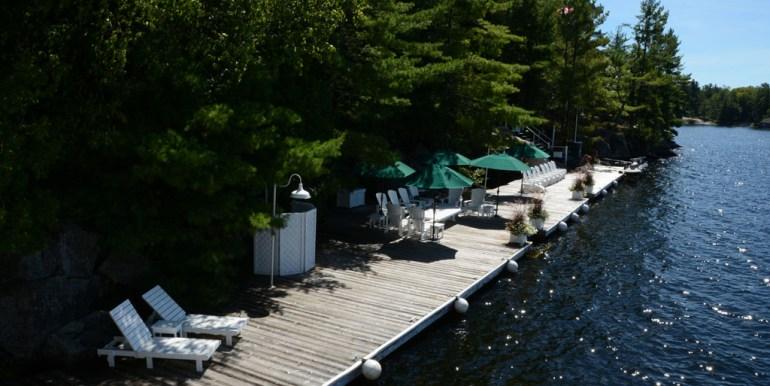200' long board walk / dock