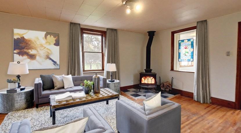 Virtually Staged Living Room - 135 Matilda clarksburg Ontario