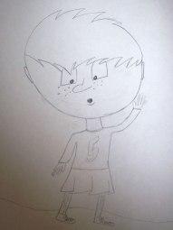 dessin d'enfant - bonhomme