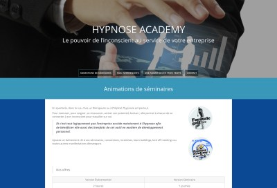 Hypnose Academy - Site Wordpress