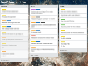 Robin Mayfield Personal Kanban using Trello