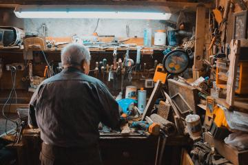 Inventor in Workshop