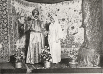 K.N. Das Gupta and Margaret Mitchell in an Indian Dramatic Society production of The Maharani of Arakan, 1913?