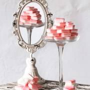 Ich hatte mal richtig Lust auf Kirmes. Also eher auf die Bonbons, die ich als Kind auf der Kirmes gekauft habe. Die kleinen staubigen, rosa-weißen, eckigen Bonbons mit dem unglaublichen Pfefferminzgeschmack. Wusstest ihr wie schnell und einfach die herzustellen sind?