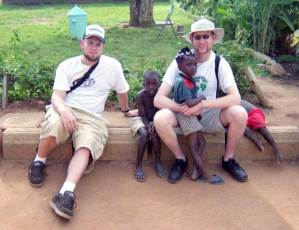 Nate and Patrick in Uganda