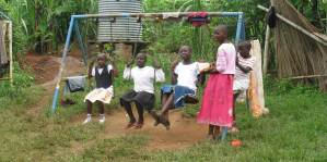 Kids Swinging Africa