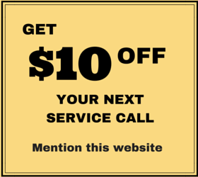 Get $10 off your next service call, mention this website