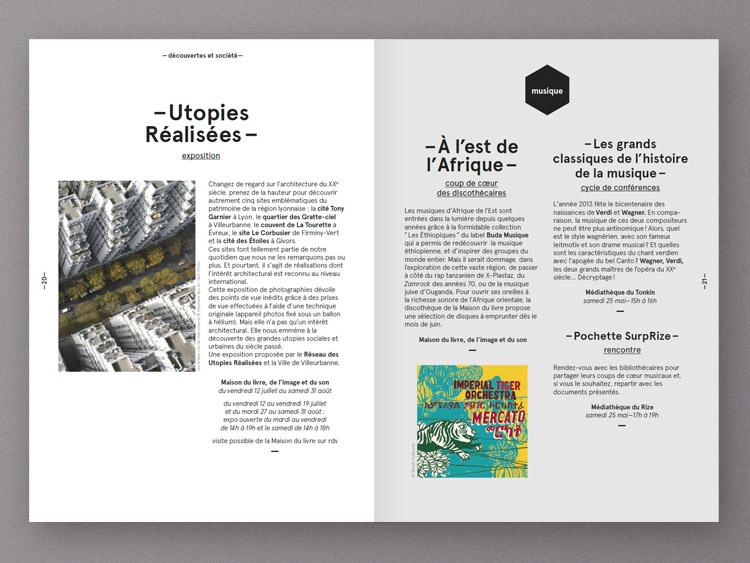 Atelier De Conception Graphique Lyon Brochure Mdiathque