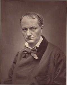 Charles Baudelaire ca 1863, fotograferad av Étienne Carjat, Woodburytype (i texten beskrivet som fotorelieftryck)