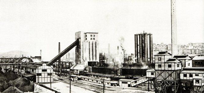 Vista general de la instalación de Hornos de Cok en la Fábrica de Sestao.