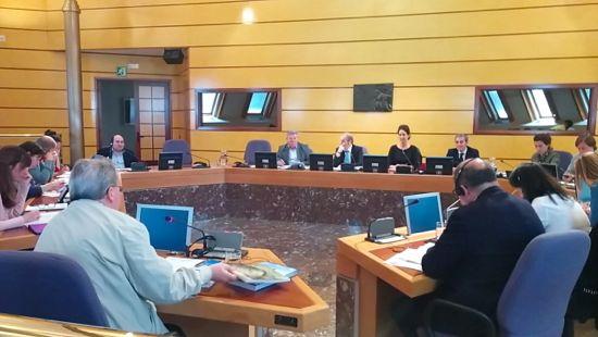 Reunión de la Comisión de Euskera y Cultura de las Juntas Generales de Bizkaia (Foto: www.jjggbizkaia.eus)