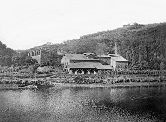 Fábrica de cemento de Uriarte y Zubimendi en Bedua en 1917. (Foto: Pedro Etxabe)
