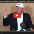Your Done : Donald Trump Shuts Down MSNBC's Liberal Journalist Jose Diaz-Balart During Border Presser