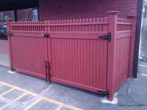 Trash Encosure - Patriot Fence Crafters