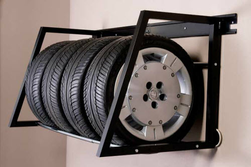 wall mounted tire racks for your garage