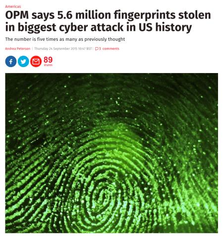 They've also stolen fingerprints.