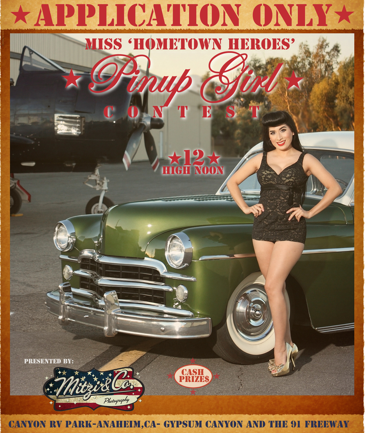 Patriots and Paws Pinup Girl Context - 4th Annual Car and Motorcycle Show