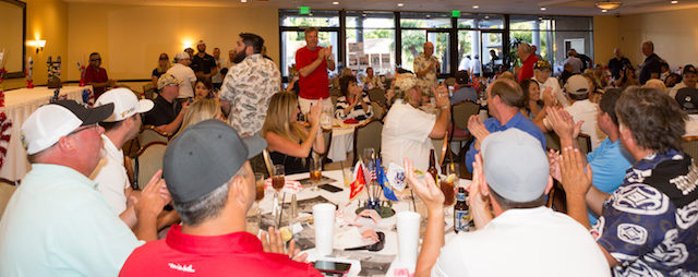 Recognizing Veterans at 2017 Golf Tournament Fundraising Dinner
