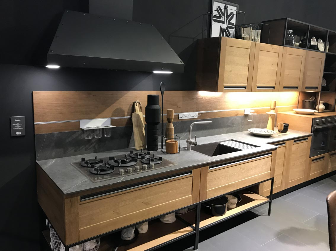 cuisines en bois style atelier