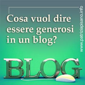 Blog generoso - Patrizia Pisano