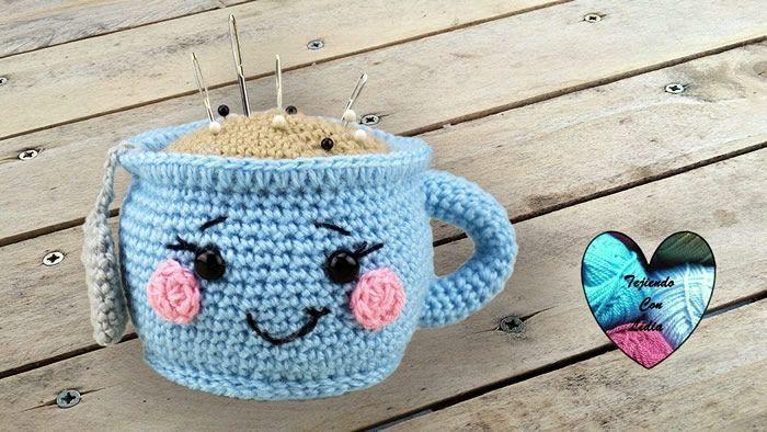 Taza de té en amigurumi