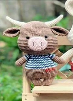Bufalo amigurumi con patrón gratis