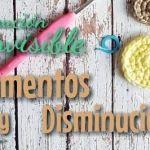 Aumentos y disminuciones para amigurumis