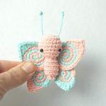 Mariposa amigurumi con patrón paso a paso