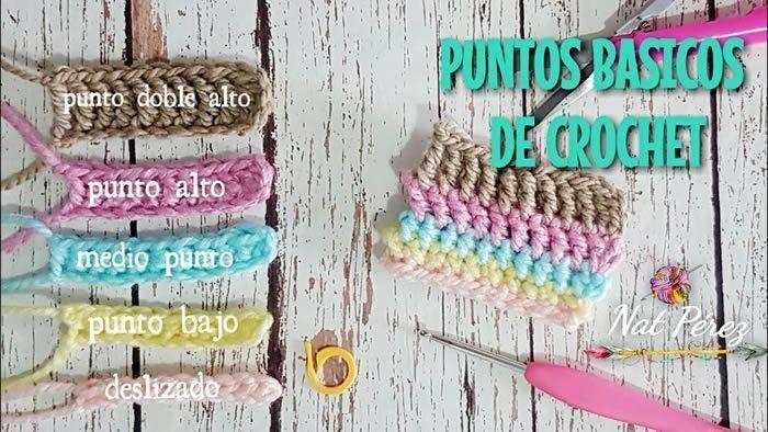 Puntos básicos de crochet paso a paso