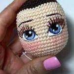 DIY Bordar pestañas a muñecas amigurumi
