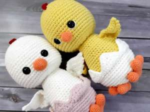 Pollito Chick amigurumi a crochet