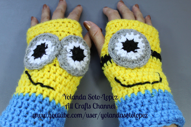 Lujo Mitones Minion Patrón De Crochet Componente - Ideas de Patrones ...