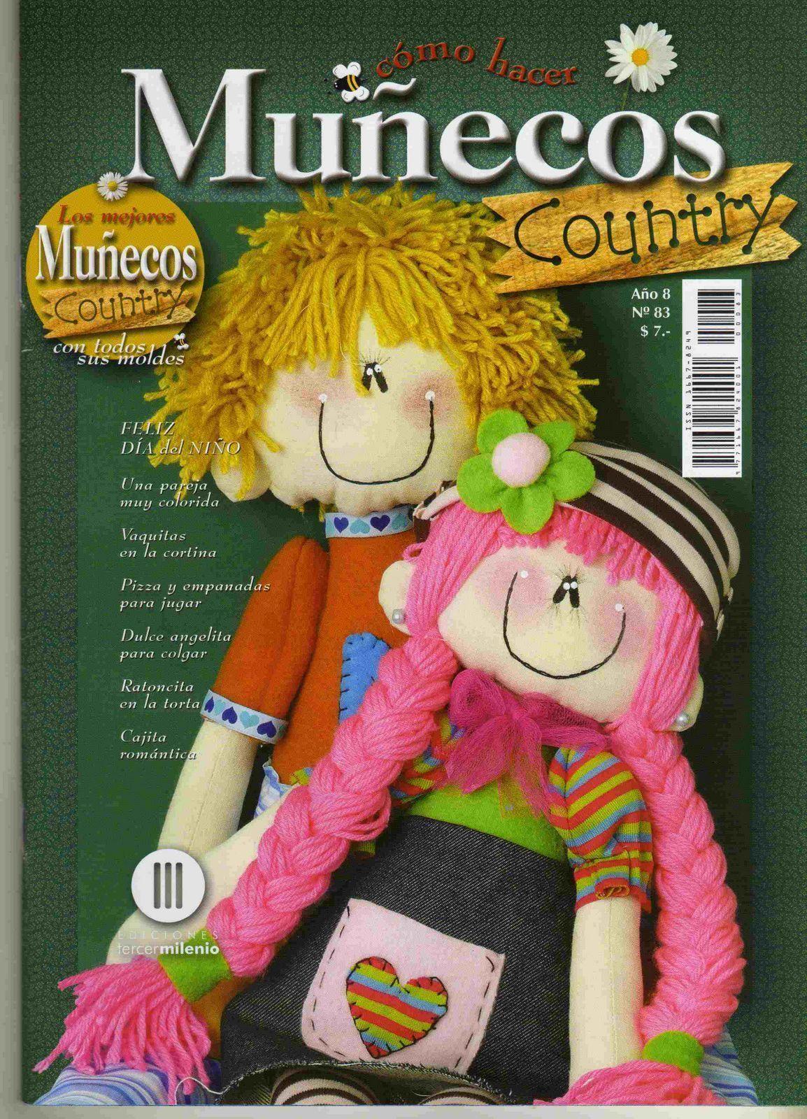 Revista de muñecos Country - Patrones gratis
