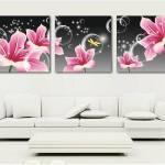 Triptico de flores