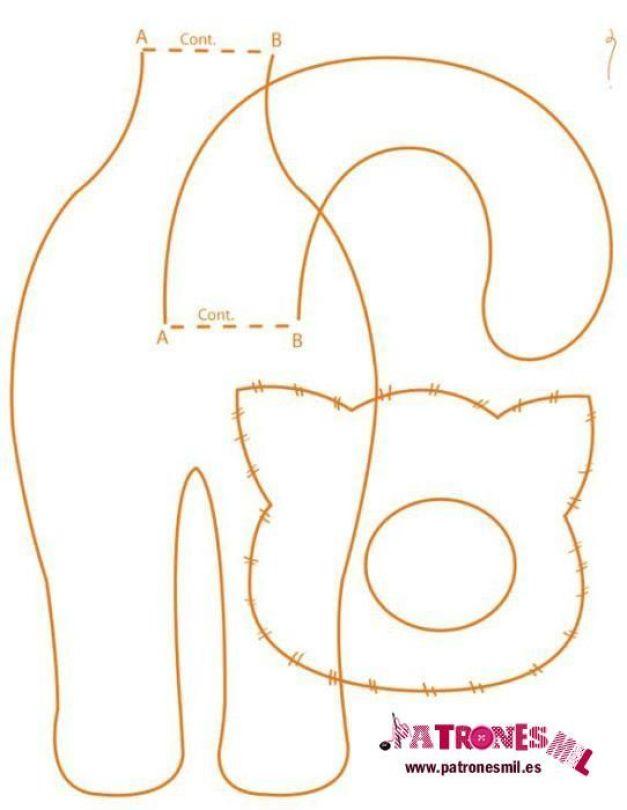 gatos de tela patron