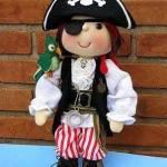 Muñeco de tela pirata