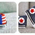 Patucos bebé All Star a crochet