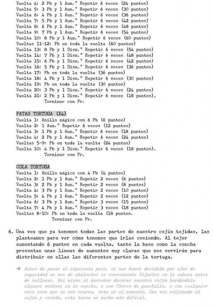 tortuga crochet 6