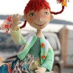 Patrón de la muñeca Pipi CalzasLargas
