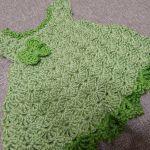 Vestido color Pistacho para Bebe Crochet