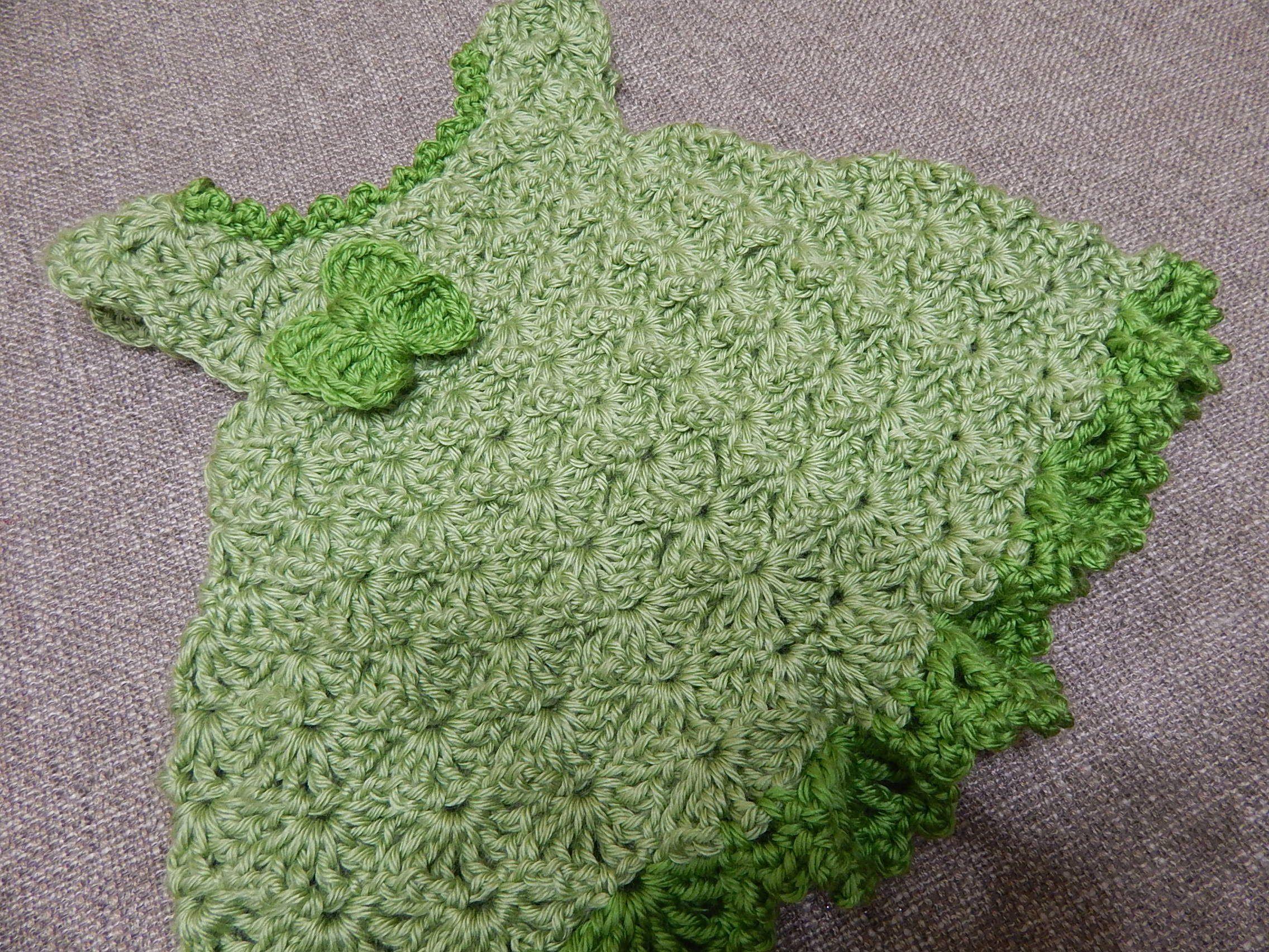 Vestido color Pistacho para Bebe Crochet - Patrones gratis