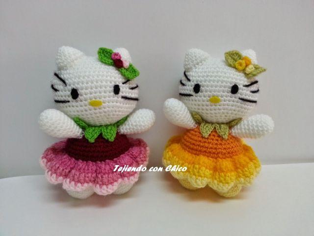 hello kitty vestidas de flor