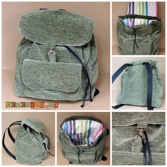 Tutorial para hacer una mochila - Patrones gratis