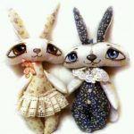 Pareja de conejos enamorados