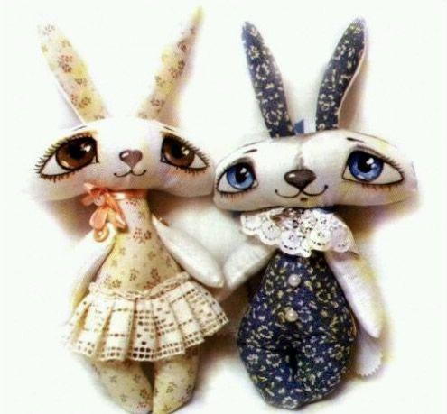 pareja de conejitos enamorados