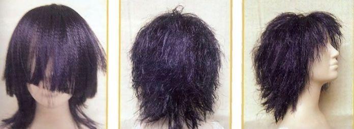 pelo para las muñecas con cinta de raso