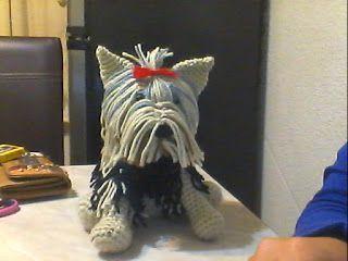Perro Yorkshire amigurumi