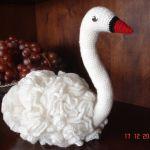 Cisne blanco amigurumi