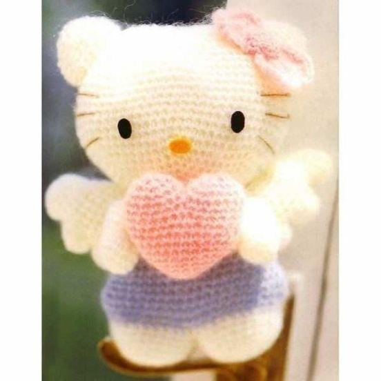 Kitty Mariquita Amigurumi : Hello Kitty Angel amigurumi - Patrones gratis