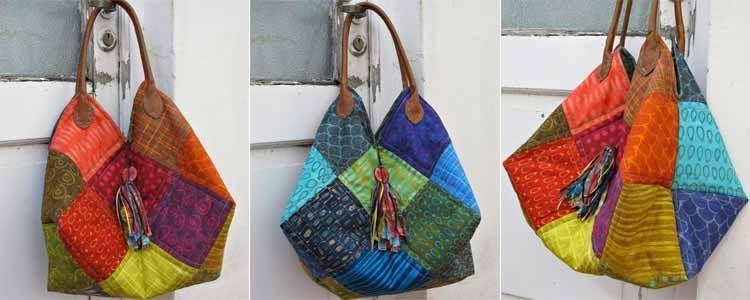 Tutorial bolso patchwork patrones gratis - Como hacer pachwork ...
